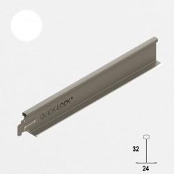 QUICK-LOCK profil poprzeczny T24/32 600mm biały
