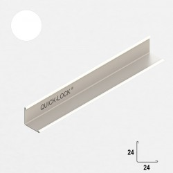 QUICK-LOCK profil przyścienny 19x24mm 3000mm RAL 9006