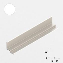 QUICK-LOCK profil przyścienny schodkowy 25x15x8x15mm biały